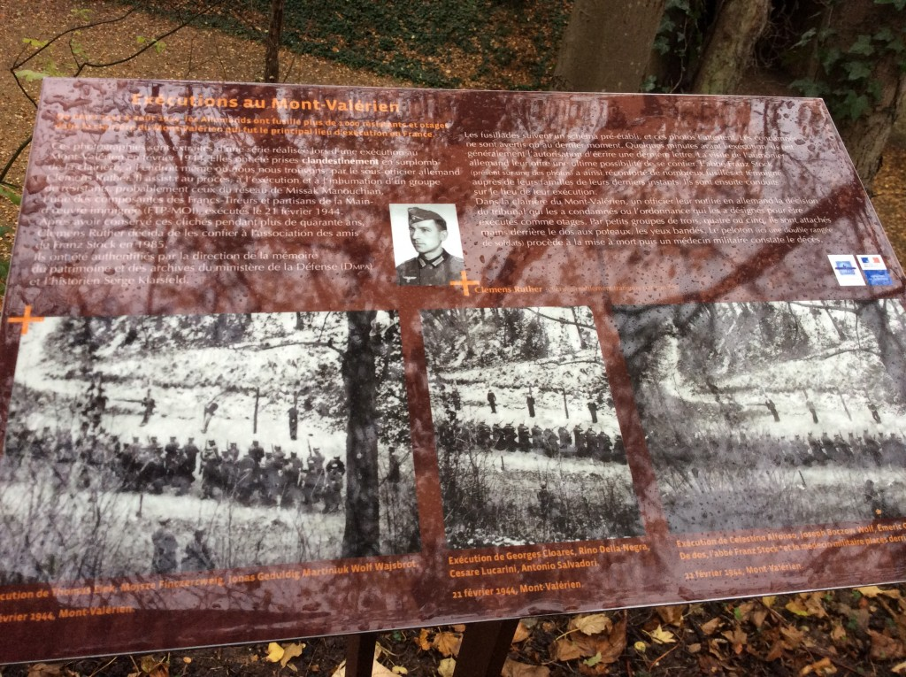 Photo prise clandestinement par un Allemand lors de l'exécution du groupe Manouchian