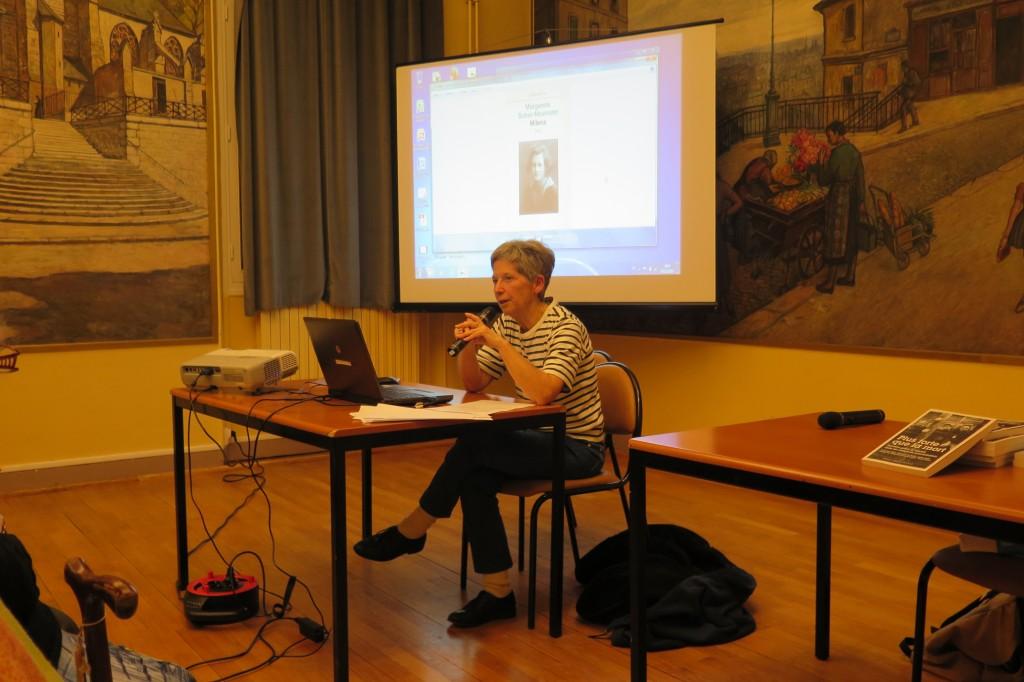 Marie-Jo Bonnet pendant la conférence