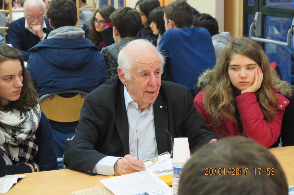 Robert Créange, ancien président de la FNDIRP.