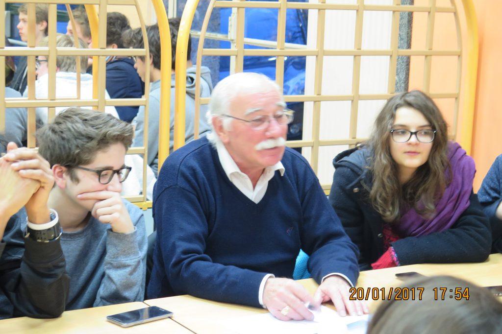 Etienne Eegret, vice-président et secrétaire mémoire du Comité du souvenir camp de Voves